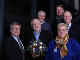 Die Mitglieder des Freundeskreis-Vorstandes, die neu gewählz bzw. verabschiedet wurden: v.l.n.r.: Jochen Hake, Klaus Bräuer, Gerd Kämper, Regina Schwalbach, Klaus Dieter Diekmann, Meinolf Nies. (Foto: privat)