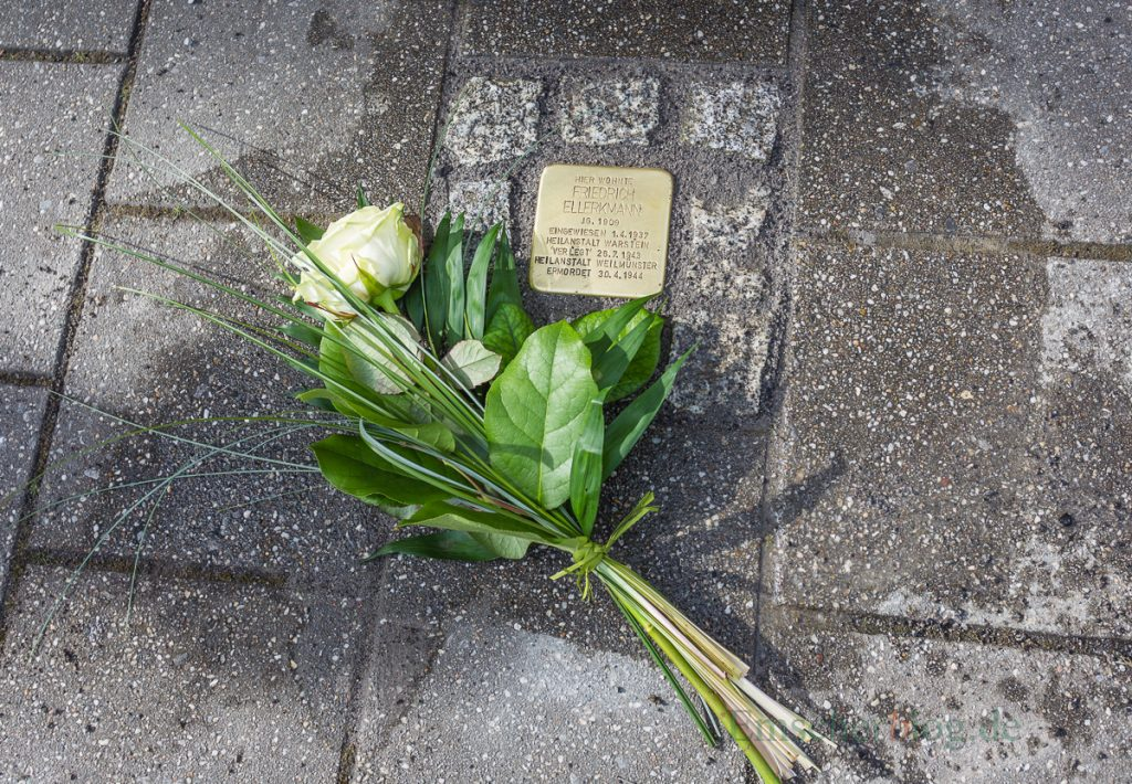 Die Verlegung fünf weiterer Stolpersteine in Holzwickede findet im Februar 2019 statt: Stolperstein für den Holzwickeder Friedrich Ellerkmann. (Foto: P. Gräber - Emscherblog.de)