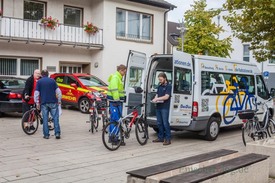 Weil das Angebot nur wenig genutzt wird, kommt die mobile Radwerkstatt nur noch einmal monatlich nach Holzwickede. (Foto: P. Gräber - Emscherblog.de)