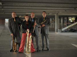 Gastiert im Spiegelsaal von Haus Opherdicke: das Kokopelli Saxophon Quartett. (Foto: Kreis Unna)