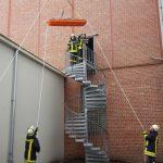 Feuerwehrübung auf dem Wiederholt-Gelände