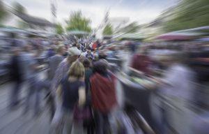 Menschen, Masse, Einwohner, Symbolbild