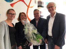 (v.l.n.r.): Jennifer Angersbach, Christine Windfuhr-Koch, Bereichsleiter Martin Hülsbusch und Geschäftsführer Rainer Goepfert