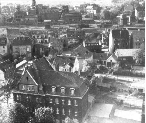 Holzwickede nach dem schweren Bombenangriff am 23. März 1945. (Foto: Gemeindearchiv)
