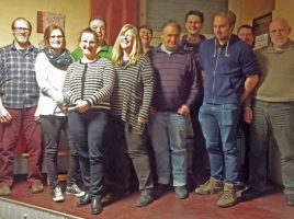Gut gelaunt stellten sich die neuen und wiedergewählten Fubktionstrtäger des JCH zum Foto. (Foto: privat)
