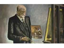 August Wilhelm Dressler, Bildnis Max Liebermann, 1928, Öl auf Leinwand, 170 x 105 cm, Kunstforum Ostdeutsche Galerie Regensburg. (Foto: Wolfram Schmidt)