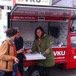 VKU-Ape steuert Wochenmarkt an