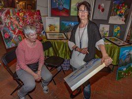 Beim 7. Malermarfkt auif Haus Opherdicke drehte sich am Wochenende alles um Kunst: 41 Künstlerinnen und Künstler fachsimpelten, tauschten Erfahrungen aus und begeisterten die Besucher mit ihrer Kreativität. (Foto: P. Gräber - Emscherblog.de)