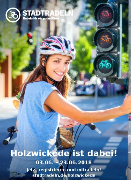 Die Umweltbeauftragte der  Gemeinde, Tanja Flormann, stellte heute den offiziellen Flyer (Bild) zur Aktion Stadtradeln vor. (Foto: Gemeinde Holzwickede)