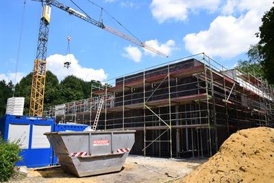 Noch im Bau: die Kreissporthalle II. (Foto: Max Rolke - Kreis Unna)