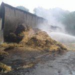 Großeinsatz der Feuerwehr in Opherdicke: Halle mit Strohballen abgebrannt