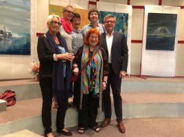 vlnr: Monika Griesel, Dr Brigitte Krusch Schlüter, Ninette Blanluet, Magrit Hamann, Ute und Jochen Hake. (Foto: privat)
