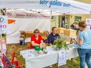 Die Diakonie geht mit - nicht nur bei diesem evangelischen Gemeindefest. (Foto: P. Gräber - Emscherblog.de)