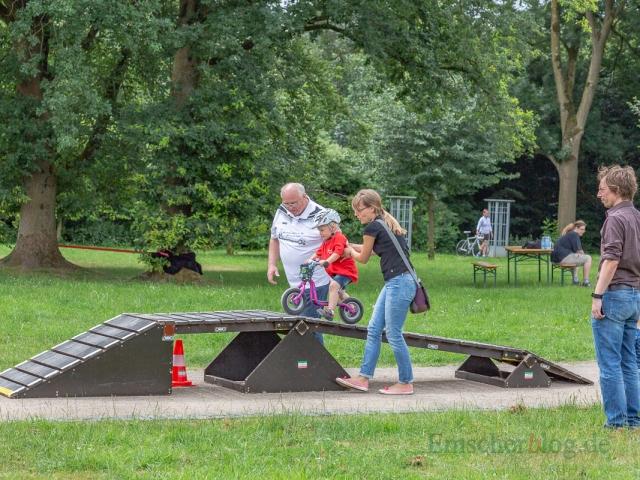 Für die Jüngsten war ein Hindernisparcours aufgebaut. (Foto: P. Gräber - Emscherblog.de)