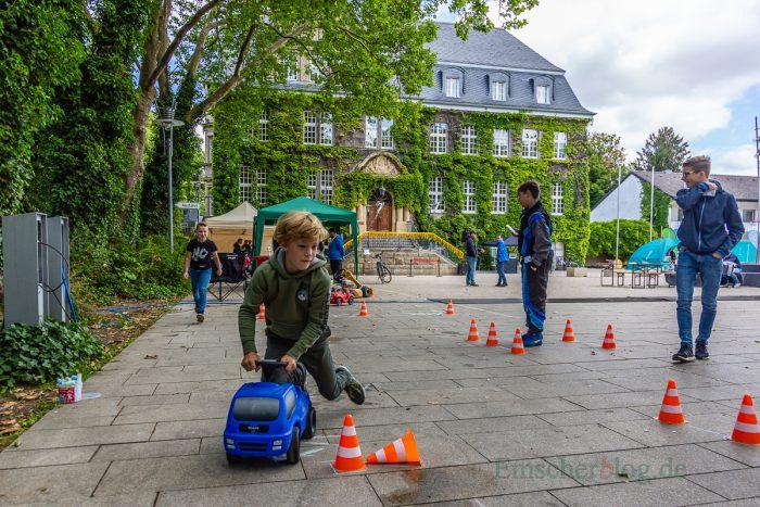 Der Kart-Parcours durfte allerdings nur mit Bobbycars befahren werden. (Foto: P. Gräber - Emscherblog.de)