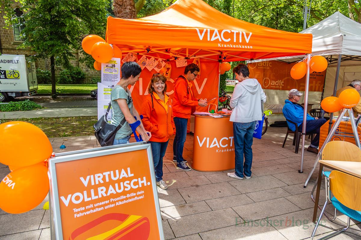 Auch die Krankenkasse Viactiv war mit einem Info-Stand vertreten. (Foto: P. Gräber - Emscherblog.de)