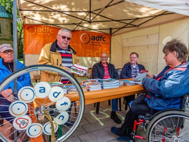 Die ADFC Ortsgruppe durfte natürlich bei diesem Event nicht fehlen. (Foto: P. Gräber - Emscherblog.de)