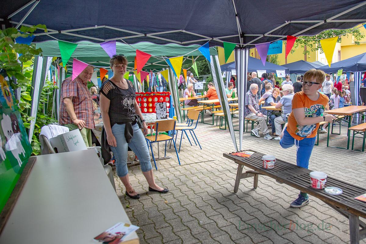 Die Kooperationspartner der Villa, hier die OGS der Nordschule, beteiligten sich mit verschiedenen Aktionen und Ständen. (Foto: P. Gräber - Emscherblog.de)