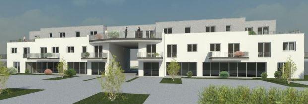 So soll das neue Wohn- und geschölftshaus an der Bahnhofstra0e n19 nach den ersten Plänen des Architekten aussehen. (Foto: Gemeinde Holzwickede)