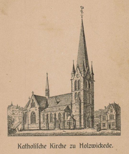Diese Grafik zeigt die katholische Liebfrauenkirche kurz nach ihrer Errichtung. (Foto: Historischer Verein)