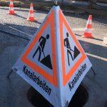 Kanalarbeiten in Mozartstraße mit Verkehrsbehinderungen