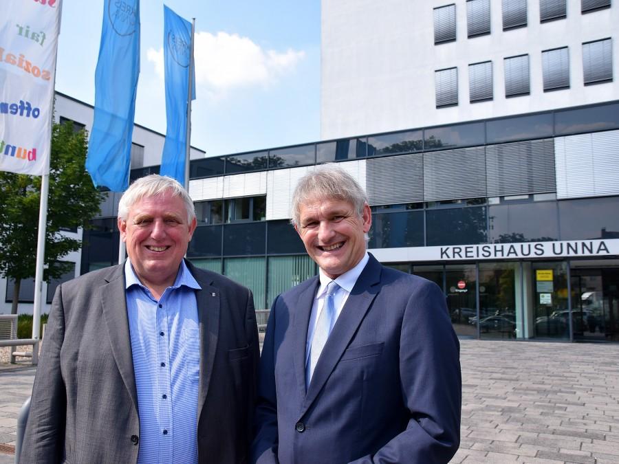 Minister Laumann folgte einer Gesprächseinladung von Landrat Makiolla. (Foto: Constanze Rauert – Kreis Unna)