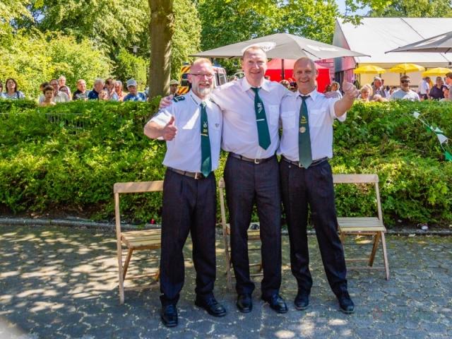 Die drei Königsanwärter, v.l.: Michael Fischer, Joachim Bachmann und Andreas Gawlowski. (Foto: P. Gräber - Emscherblog.de)