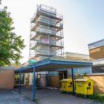 Klinker locker: Lüftungskamin am Schulzentrum wird saniert