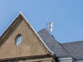 Probealarm am 6. September: Sirene auf dem Dach des Holzwickeder Rathauses. (Foto: P. Gräber - Emscherblog.de)