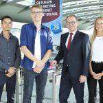 Willkommen an Bord: Flughafen Dortmund begrüßt vier neue Auszubildende