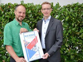 Matthias Müller von der WFG und Thomas Chmielnik von den Wirtschaftsjunioren freuen sich auf den Workshoptag. Foto: WFG (Ute Heinze)