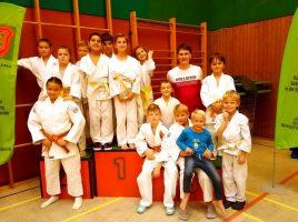 Die erfolgreichen JCH-Kämpfer bei den Bezirksmeisterschaften der Alterklassen U10 und U13 in der Hilgenbaumhalle. (Foto: JCH)