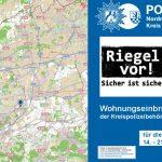 Polizei-Strategie zeigt Erfolg:  In einer Woche kein einziger vollendeter Wohnungseinbruch