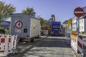 Bei der Kanal- und Schachtsanierung in der Stehfenstraße sind rund 250 000 Euro Mehrkosten entstanden, weil der Schaden nicht dort war, wo er sollte. Allerdings steht die Aufhebung der Baustelle kurz bevor. (Foto: P. Gräber - Emscherblog.de)