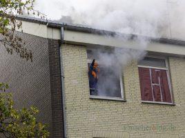Aus dem völlig verqualmten Gebäude in der Emscherkaserne drangen jämmerliche Hilferufe. (Foto: P. Gräber - Emscherblog.de)