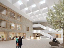 So soll das Bürgerforum im neuen Rat- und Bürgerhaus aussehen. (Foto: RENDERBAR für Bez+Kock Architekten) (Foto: RENDERBAR für Bez+Kock Architekten)