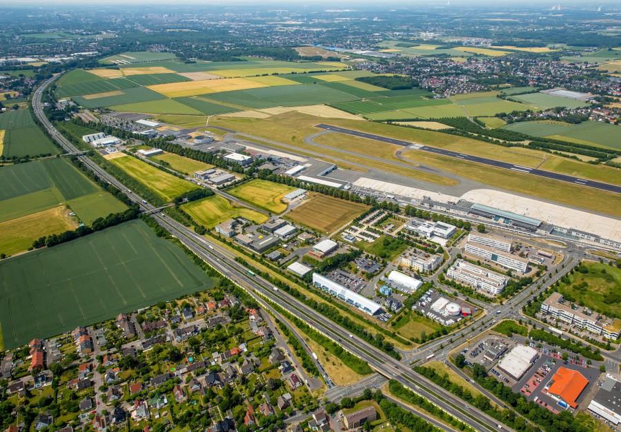 Luftbild des Gewerbeparks Eco Port. (Foto: Hans Blossey)