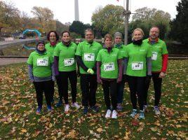 """Die Mitglieder der neuen Gruppe """"Laufen lernen"""" des HSC nahmen erfolgreich am Westfalenpark-Lauf teil. (Foto: privat)"""