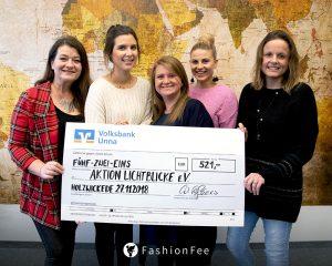 Das Team von FashionFee spendet an die regionale Hilfsorganisation Aktion Lichtblicke e.V. (Foto: privat)
