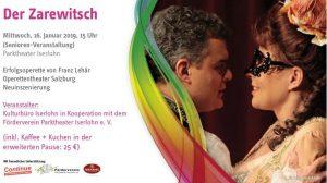 """Die Senioren-Begegnungsstätte lädt zu einer Fahrt zum Parktheater Iserlohn ein, wo die Operette """"Der Zarewitsch"""" aufgeführt wird."""