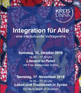 """Vortragsreihe """"Integration für alle"""" Leben und Traditionen in Syrien"""