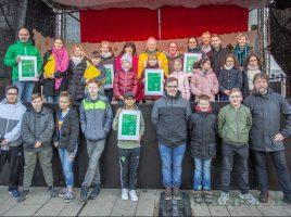 Die drei Preisträger des diesjährigen Innogy-Klimaschutzpreises wurden heute auf dem Weihnachtsmarkt bekanntgegeben und ihre Vertreter geehrt. (Foto: P. Gräber - Emscherblog.de)
