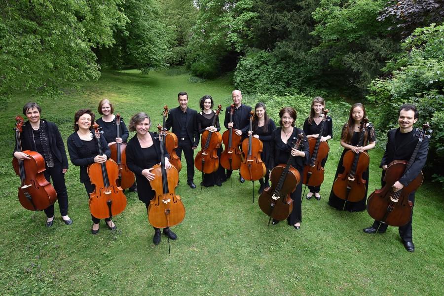 Beschließen die 3.Franzölsischen Kulturtage des Freundeskreises mit einem Konzert in Unna: die 12 Hellweger Cellisten. (Foto: Agentur)