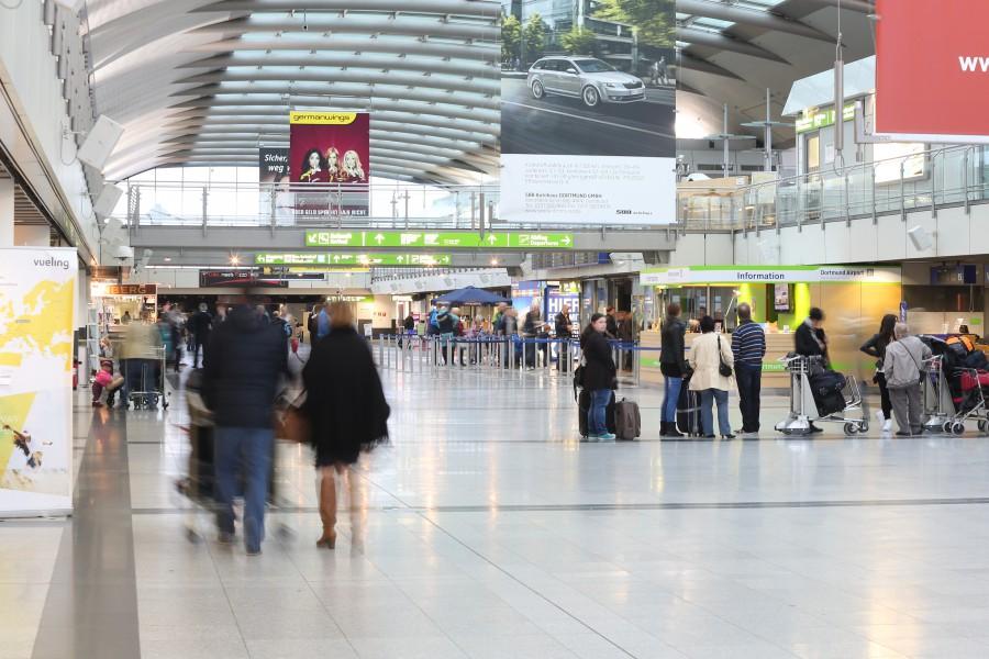 Flugreisende aus Risikoländern können sich am morgen (25. Juli) in einem Corona-Testzentrum im Dortmunder Flughafen testen lassen. ((Foto: Dortmund Airport)