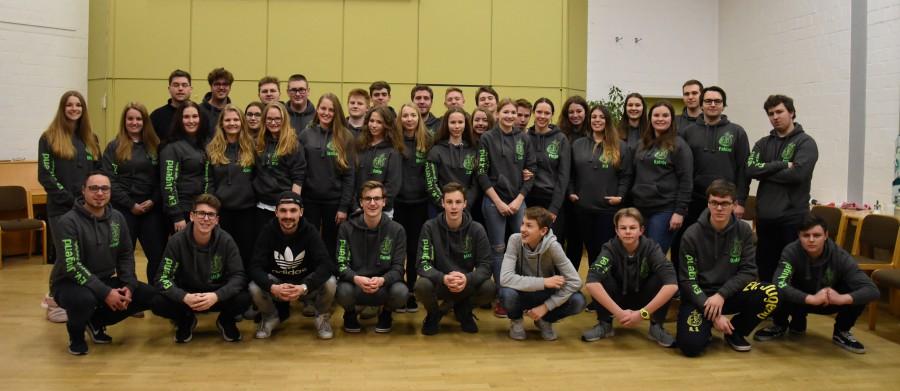 Die Teilnehmer des Mitarbeitenden-Wochenendes der Ev. Jugend Holzwickede und Opherdicke in der Jugendbildungsstätte Nordwalde. (Foto: privat)
