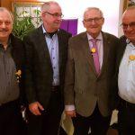 HSC-Vorstand gratuliert Heinz Seidel zum 80. Geburtstag