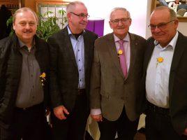 Zum runden Geburtstag von Heinz Seidel gratulierten ihm der Vorstand des HSC v.l. Udo Speer, Günter Schütte, Heinz Seidel und Wolfgang Hense. (Foto: privat)