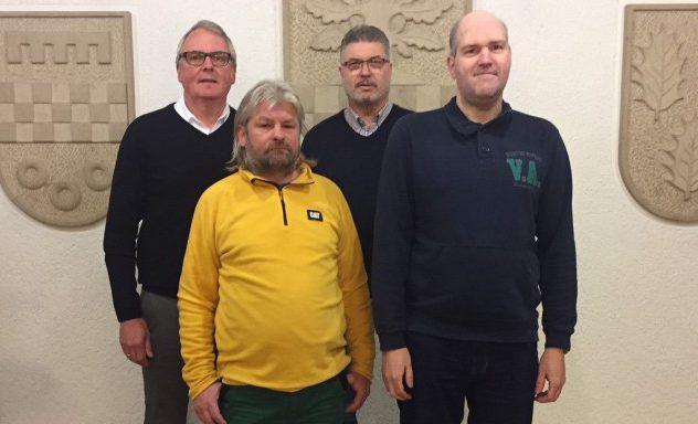 Auf dem Bild von links: Uwe Nettlenbusch, Ronny Röth, Bernd Rafflenbeul, Michael Koblitz (nicht im Bild Fouad Zemraoui)