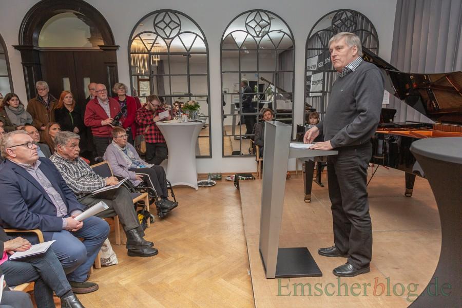Ulrich Reitinger lenkte den Fokus auf die gnadenlose Bürokratie und deutsche Gründlichkeit  beim Euthanasie-Programm der Nazis. (Foto: P. Gräber - Emscherblog.de)