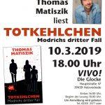 """Buchpremiere im VIVO: Thomas Matiszik liest aus """"Totkehlchen"""" - Modrichs dritter Fall"""